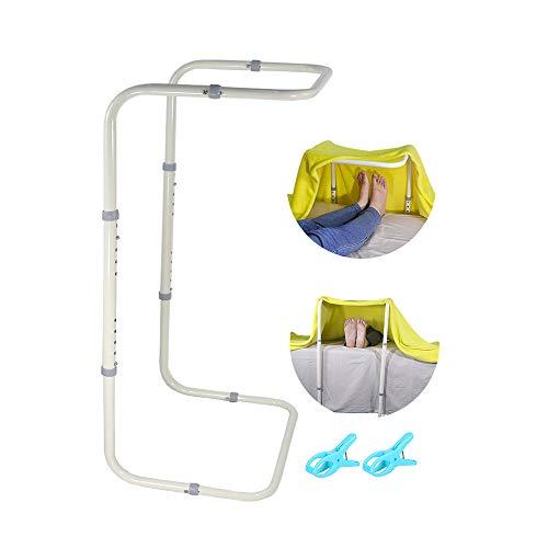 Barra de elevación para pies ajustable para soporte de manta levantadores de cama, pie de tienda de campaña, mantas elevadoras de hoja elevadora de acero resistente, accesorios médicos para piernas, rodilla y tobillo