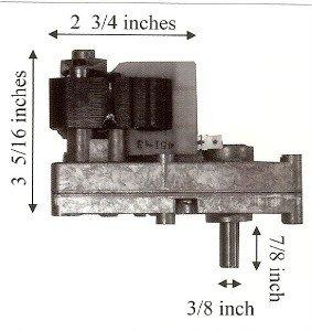 Ashley Pellet Stove 1 RPM Auger Motor 10+ Year Lifespan - 12-1011 - 80488 made by  legendary Merkle-Korff