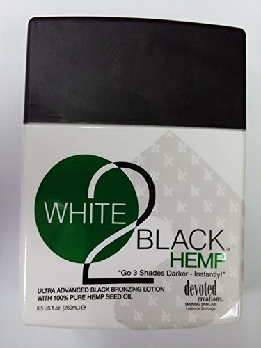 Devoted Creations White 2 Black Hemp Tanning Lotion - 8.5 oz.