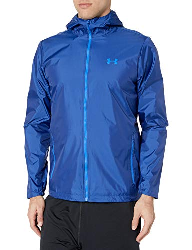 Under Armour Men's Forefront Rain Jacket , American Blue (449)/Versa Blue , Large
