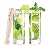 Final Touch Mojito Glass & Muddler Set
