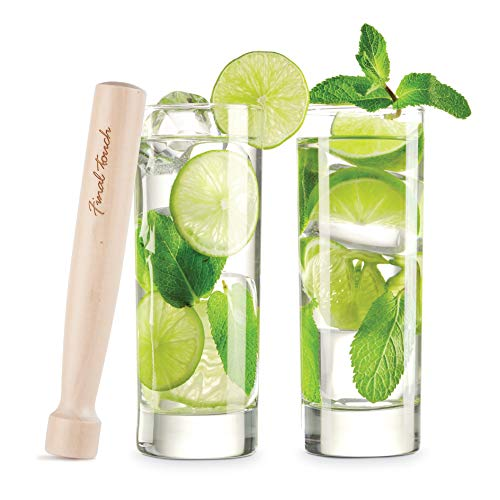 Glass and Wood Mojito Set