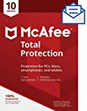 McAfee Total Protection 2021, 10 Device, Antivirus Internet Security Software, Password Manager, Parental Control, Privacy, 1 Year - Key Card