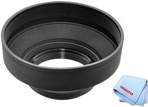 77mm Pro Series Soft Rubber Lens Hood For Nikon AF-S NIKKOR 28-300mm f/3.5-5.6G ED VR Zoom, Nikon 10-24mm f/3.5-4.5G ED AF-S DX Zoom-Nikkor Lens, Nikon AF-S NIKKOR 85mm f/1.4G Classic Portrait Lens