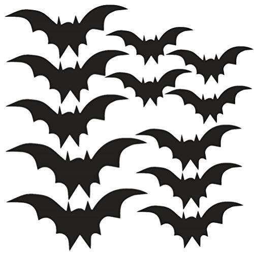 NUOBESTY 2 fogli adesivi murali pipistrello adesivi murali halloween per decorazioni per la casa bar party