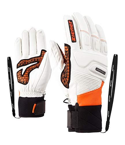 Ziener Gloves Gisor Gants de Ski pour Homme Taille Unique Orange (Poison Orange)