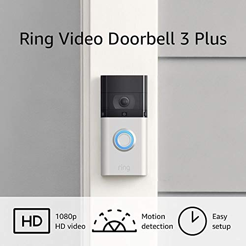 Ring Video Doorbell 3 Plus – enhanced wifi, improved motion detection, 4-second video previews, easy installation