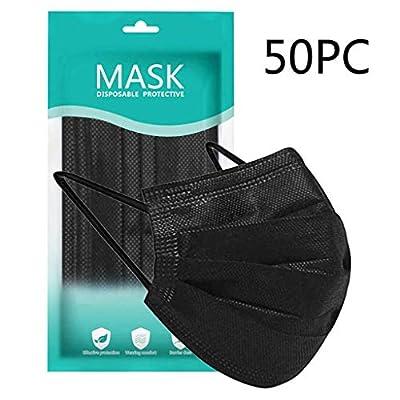 New Disposable Face Macks, 3-Ply (50, Black)