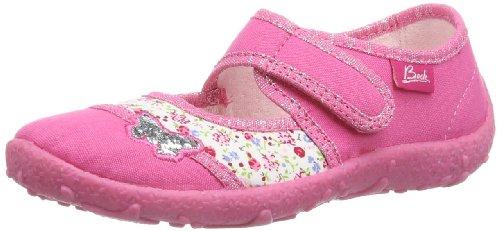 Beck Mädchen Papillon Hausschuhe, Pink (pink 06), 30 EU