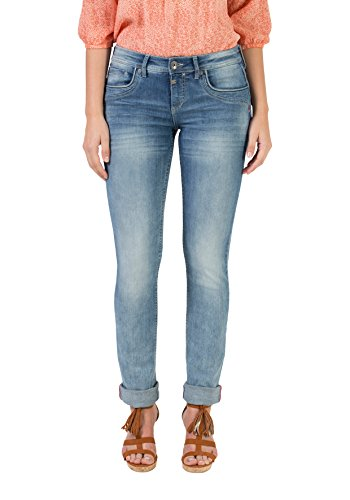 Timezone Damen Straight Jeans Slim Tahila, Blau (Light Sky Wash 3152), 30W / 34L