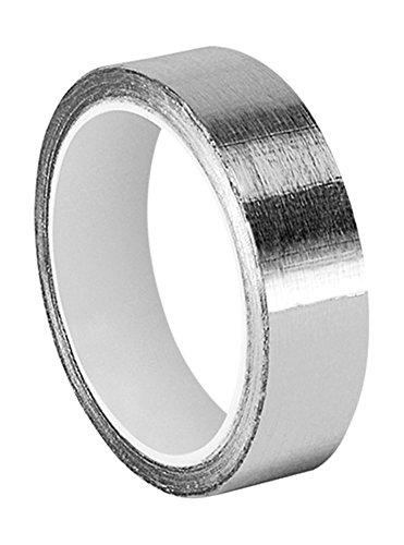 tapecase 0.625–5-433Silber Hohe Temperatur Aluminium/Silikon Folie Klebeband, 1,6cm X 5YD. Rolle, 0cm Stärke, 12,7cm Länge, 1,6cm Breite