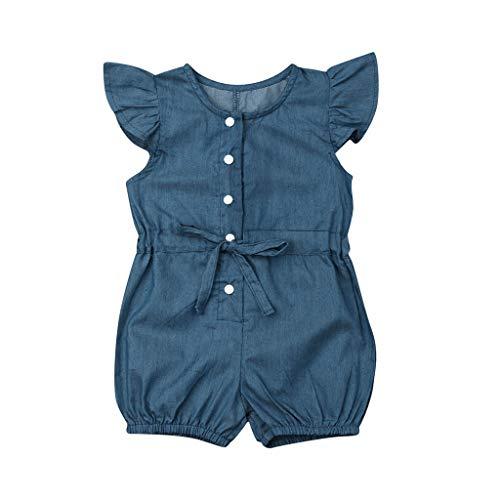 Zylione MäDchen Strampler Baby Sommer FliegenhüL Sendenim Verband Kleidungs Spiel Anzug Kinder Tagesgeschenk