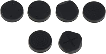 Baoblaze 6 Pieces Thumb Grips Analog Stick Silicone Cap Cover Protector for Sony Playstation PS Vita PSV1000 2000 - Black