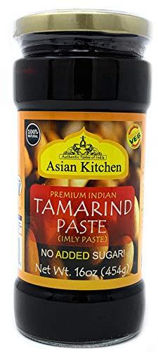 Asian Kitchen Tamarind Paste Puree (Imli) 16oz (1lb) Glass Jar, Gluten Free, No added sugar ~ All Natural | Vegan | NON-GMO | No Colors | Indian Origin