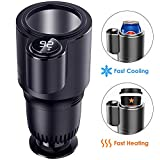 Kwak's Warmer and Cooler Smart 2-in-1 Car Cup Can Drinks Holder Heating Cooling Water Coffee Beverage Milk Heater Cooler for Traveler Road