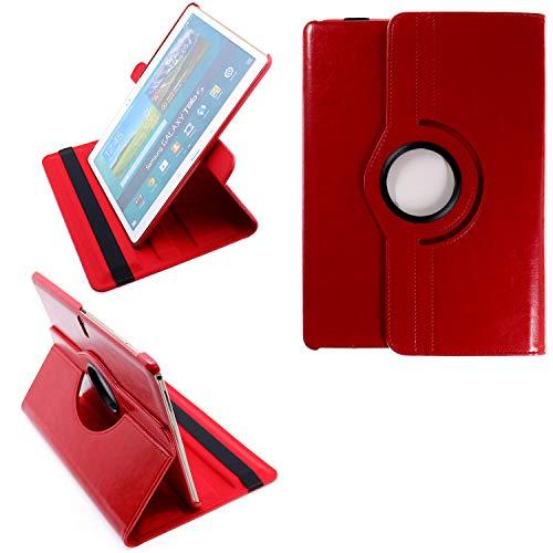 COOVY 2.0 Custodia per Samsung Galaxy TAB S 10.5 SM-T800 SM-T801 SM-T805 SMART 360° GRADI DI ROTAZIONE COVER SUPPORTO PROTEZIONE CASE Auto Sveglia/Sonno | rosso
