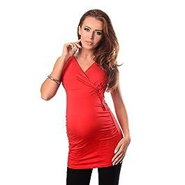 Purpless Maternity V Neck Pregnancy Top Sleeveless Shirt Blouse for Nursing Women 5104
