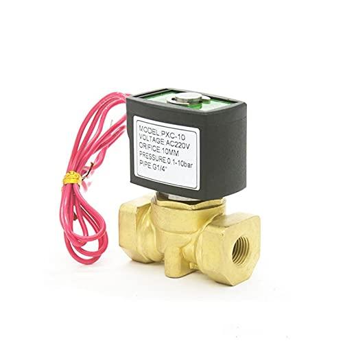 YIJIAN-UMBRELLA Normalmente Cerca de la válvula solenoide de latón de Agua 2WAY 10BAR 1/4 3/8 1/2 Pulgada Orificio 10 mm 220VAC válvula compacta (Specification : 3/8Inch, Voltage : DC24V)