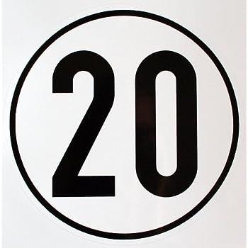 Hinweisschild f/ür Kraftfahrzeuge Geschwindigkeitsaufkleber 80 km//h zur Anbringung an das Fahrzeug 80 km//h zul/ässige H/öchstgeschwindigkeit Durchm 200 mm