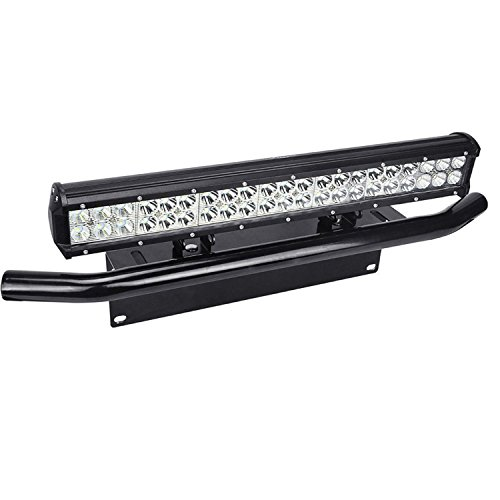 Willpower 20 inch 126W Spot Flood LED Work Light Bar with License Plate Bracket Off road Trucks SUV 4WD Driving Fog Lights