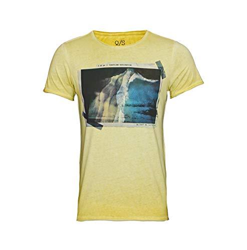 s.Oliver T-shirt met motief 47.905.32.5123 1505 geel
