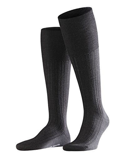 FALKE Bristol Pure Chaussettes montantes Homme Gris (Anthracite 3080) 41/42 (Taille fabricant:41-42)