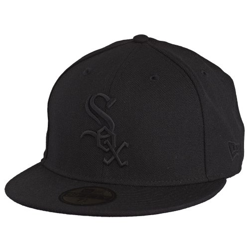 New Era MLB Basic NY Yankees 59Fifty Chicago White Sox 59FIFTY Casquette de Baseball pour Adulte Noir/Noir 56 cm