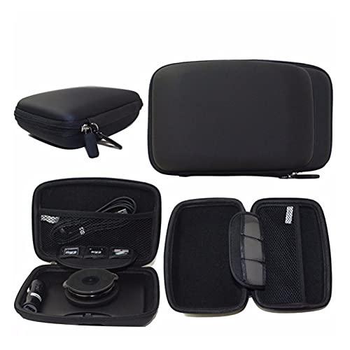 TAO Cubierta de la caja de la carcasa de la carcasa de la cáscara de la cáscara de la PU de 6 pulgadas en el soporte del sábado del coche Fit para GPS TomTom Start 60 Garmin Protection Cover Pouch Qia