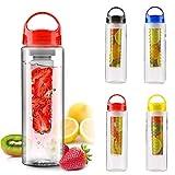 TUZECH Fruit Infuser Water Bottle 25 oz BPA-Free Tritan Plastic Infusion Sports Water