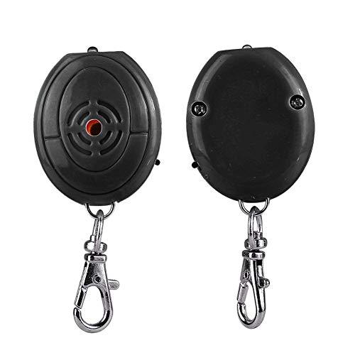 Localizador de llaves ABS antipérdida, llavero con control de voz resistente a los golpes, ligero multiusos para billetera para mascotas(black)