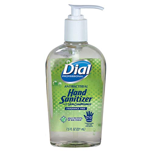 Dial Professional 01585 Dial Instant Hand Sanitizer With Moisturizers Pump 7.5 Oz. (12-Pack)