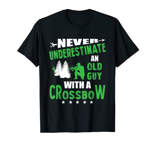 Mens Archery Crossbow Old Guy Medieval Archery T-Shirt