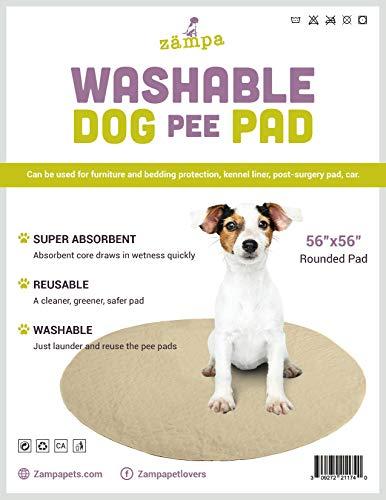 Zampa Pets Hunde-Pads, rund, kreisförmig, wiederverwendbar, gesteppt, schnell absorbierend, wasserfest, für Laufgitter, 142 CM Round