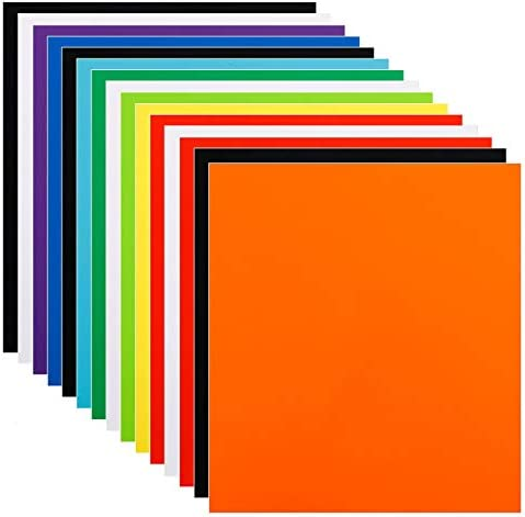 15pcs Self Adhesive Vinyl Sheets 12in x 11in Assorted Colors Permanent Vinyl for Signs Scrapbook product image