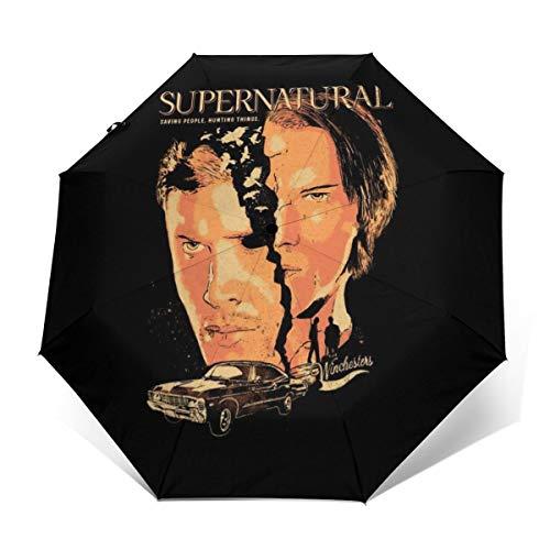 Supernatural Regenschirm, für Jagd, Winddicht, kompakt, automatisch, faltbar, zusammenklappbar
