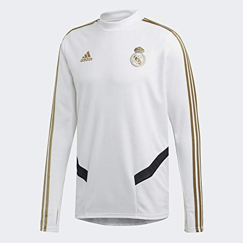adidas Herren Trainingsoberteil Real Madrid Training Top, White/Drfogo, S, DX7837