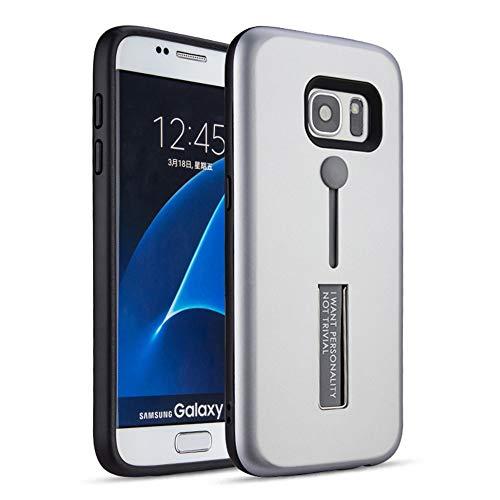 Compatibel met de Samsung Galaxy S7 Edge hoes Slim Fit hardcase kickstand telefoonhoes anti-vingerafdruk zachte siliconen beschermhoes stofdichte cover met standing case cover