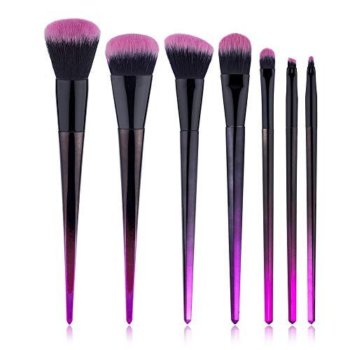 QXX-Make-up Brush Pinceau de Maquillage, poignée de Diamant Gradient, Maquillage du Visage des Yeux Halloween Set 7pcs