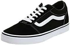 Vans Black Ward Suede Canvas Trainers. Brand New and Genuine. We are an authorised seller of Vans. See product description below for more information.