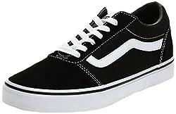 Vans Herren Ward Canvas Sneaker, Schwarz ((Suede/Canvas- Black/White), 46 EU