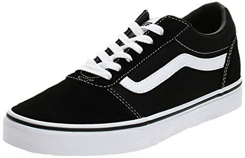 Vans Men's Low-Top Sneakers, Black Suede Canvas Black White C24, 9.5 UK