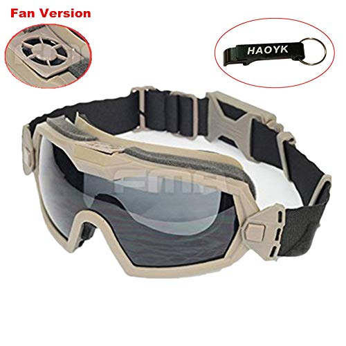 Gafas deportivas de haoYK, para esquí, snowboard y motociclismo, con ventilador de refrigeración, DE