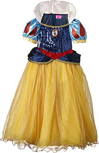 Princesas Disney - Disfraz de Blancanieves Premium para niña, infantil 3-4 años (Rubie s 620482-S)