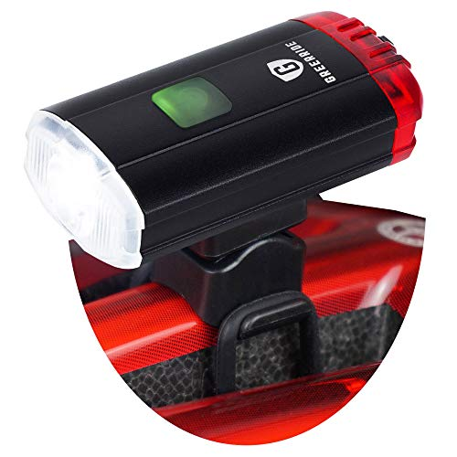 Greerride Rechargeable Bike Helmet Light - LED Bike Lights Front and Back That Make You Visible, Rear Bicycle Light and Safety Cycling Light with Bright Flashing and Steady Modes and Adjustable Mount
