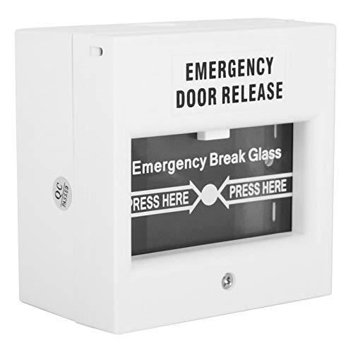 DAUERHAFT Botón de Alarma de Rotura Panel de Chorro de Botón de Seguridad de liberación Fácil de Instalar para Puertas de Emergencia A Prueba de Fuego Durable