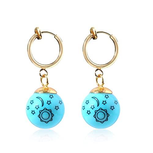 TIANYOU Pendientes de Joyería de Oído Cosplay Ear Stud Jewelry Collection Props Pendientes Hecho