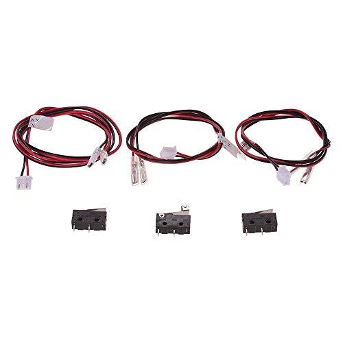 Accesorios de impresora Piezas de impresora 3D Tope final Interruptores de límite de tope final Control de enchufe con cable 24AWG Interruptor de 2 pines para Anet A8 Plus Impresora 3D de escritorio P