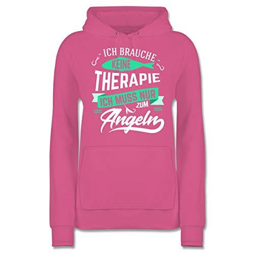 Angeln - Ich Brauche Keine Therapie Angeln - S - Rosa - JH001F - Damen Hoodie und Kapuzenpullover für Frauen