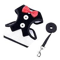 JIANYI 犬通気犬マルチスタイルのドレスボウベストペット服のための犬ハーネスペットハーネスリーシュ胸ベルトカラー牽引ロープ (色 : B, サイズ : S)