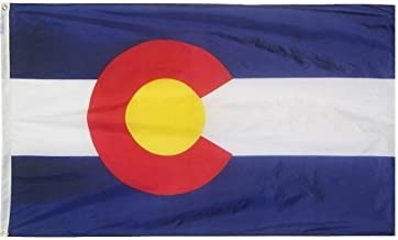 product image for All Star Flags 4x6' Colorado Nylon State Flag - All Weather, Durable, Outdoor Nylon Flag